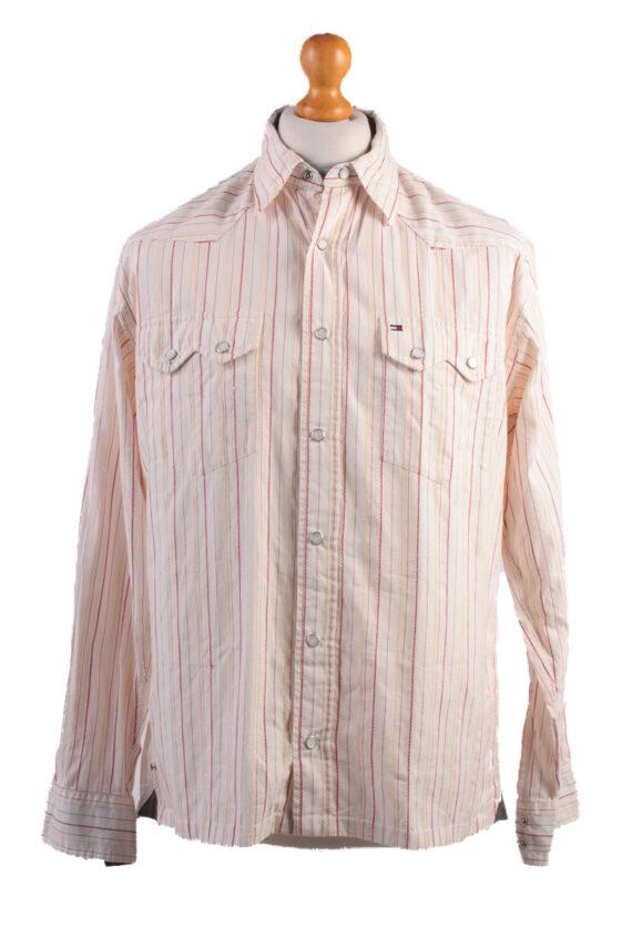 Tommy Hilfiger Vintage Long Sleeve Shirt Cream/Stripes Size M- SH1984-0