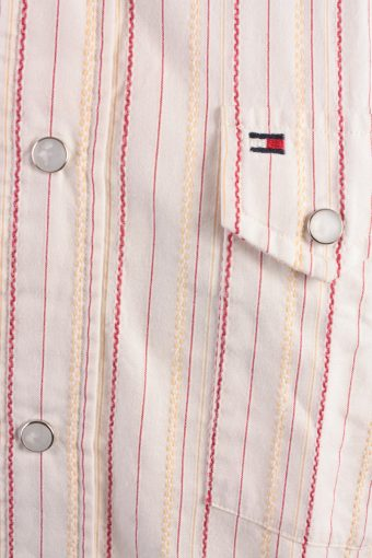 Tommy Hilfiger Vintage Long Sleeve Shirt Cream/Stripes Size M- SH1984-15576