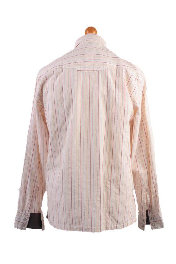 Tommy Hilfiger Vintage Long Sleeve Shirt Cream/Stripes Size M- SH1984-15577