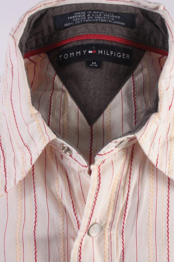 Tommy Hilfiger Vintage Long Sleeve Shirt Cream/Stripes Size M- SH1984-15578