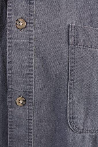 R.Q. Polo Team Vintage Long Sleeve Shirt Grey Size M- SH2003-15660