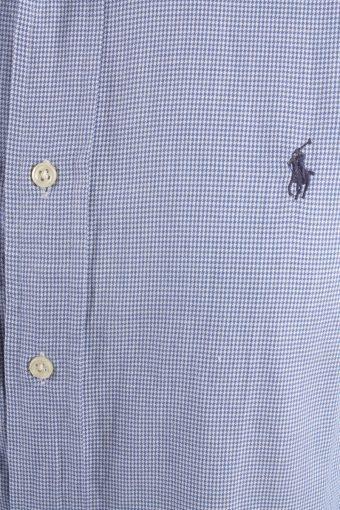 Ralph Lauren Vintage Long Sleeve Shirt Blue/Design Size M - SH2030-15763