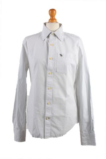 Abercrombie&Fitch Long Sleeve Shirt /Stripes 90s White S