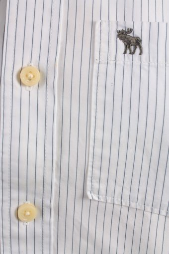 Abercrombie&Fitch Vintage Long Sleeve Shirt White/Stripes Size S- SH2058-15885
