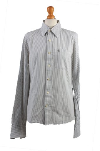Abercrombie&Fitch Long Sleeve Shirt /Stripes 90s White M
