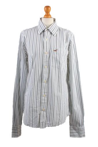 Hollister Long Sleeve Shirt /Stripes 90s White M