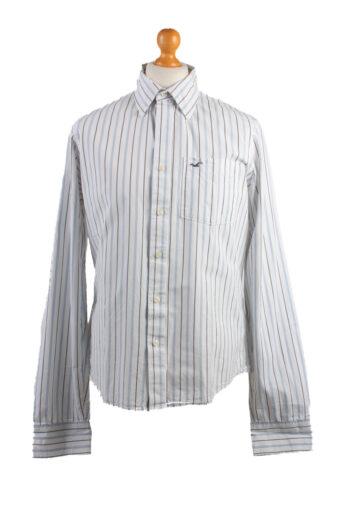 Hollister Long Sleeve Shirt /Stripes 90s White XL
