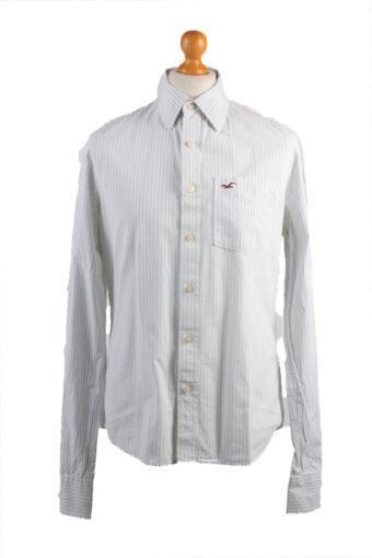 Hollister Long Sleeve Shirt /Stripes 90s White L