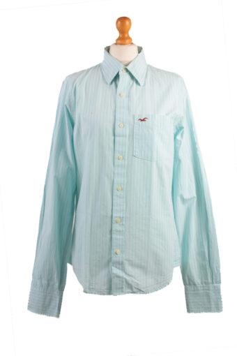 Hollister Long Sleeve Shirt Aqua/Stripes Aqua M, L