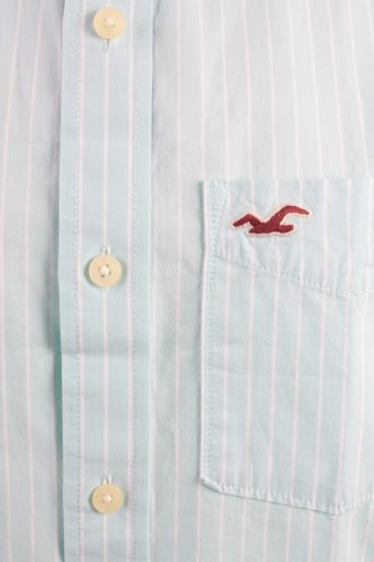 Hollister Vintage Long Sleeve Shirt Aqua/Stripes Size M - SH2083-15904