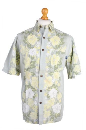 Hawaiian Shirts 90s Retro Short Sleeve Grey M