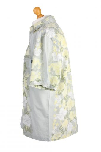 O'Neall Vintage Short Sleeve Summer Shirt Grey/Design Size M - SH295-16543