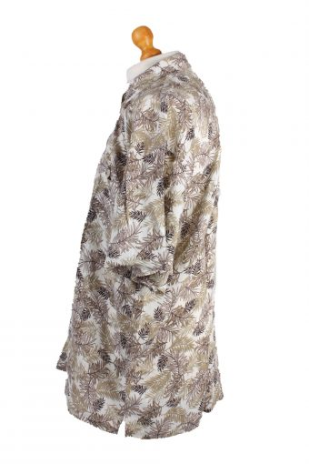 Sun Casuals Vintage Short Sleeve Summer Shirt White/Design Size 2X - SH306-16556