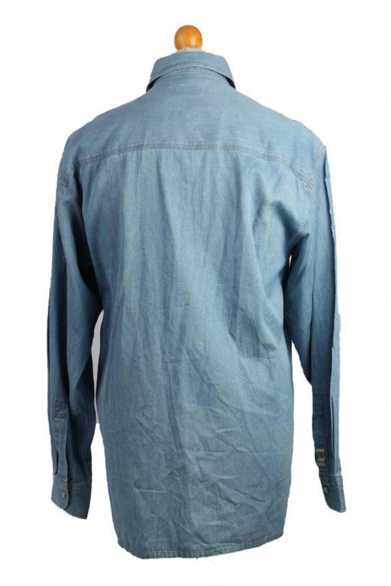 John F.Gee Vintage Long Sleeve Shirt Blue Size 37/38 - SH359-17151
