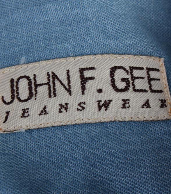 John F.Gee Vintage Long Sleeve Shirt Blue Size 37/38 - SH359-17152
