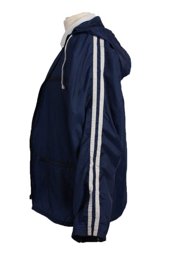 "Raincoat Hooded Vintage Waterproof Navy Jacket Chest Size 44 "" -SW094-19367"