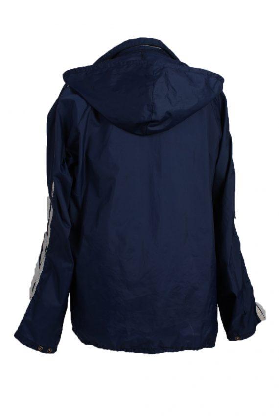 "Raincoat Hooded Vintage Waterproof Navy Jacket Chest Size 44 "" -SW094-19368"