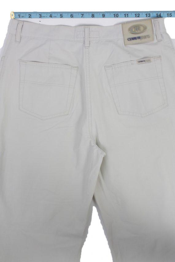 Cerruti Jeans Vintage Trousers with Button&Zip Men Grey W28 L30 -J1672-20100