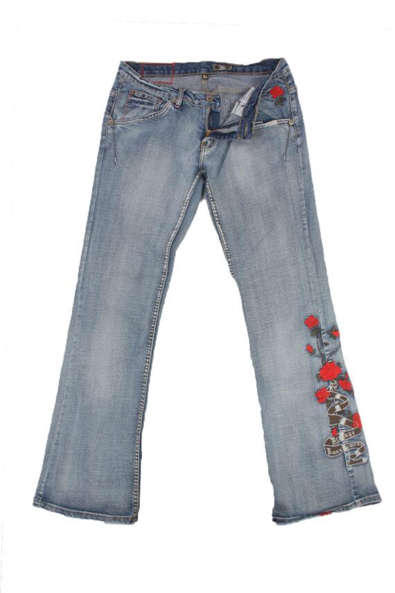 Eight2Nine Vintage Jeans with Button&Zip Women Blue/Design W32 L33.5 -J1681-0