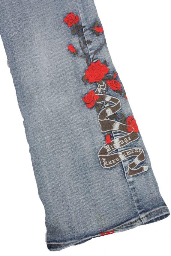 Eight2Nine Vintage Jeans with Button&Zip Women Blue/Design W32 L33.5 -J1681-20186