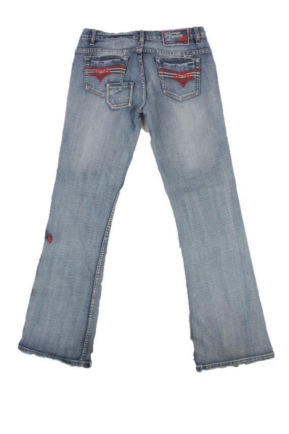 Eight2Nine Vintage Jeans with Button&Zip Women Blue/Design W32 L33.5 -J1681-20187