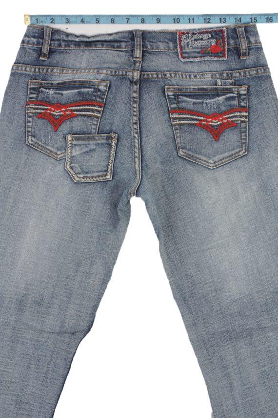 Eight2Nine Vintage Jeans with Button&Zip Women Blue/Design W32 L33.5 -J1681-20188