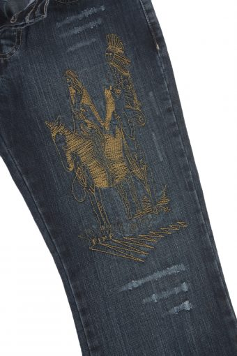 Diesel Vintage Jeans with Button&Zip Women Blue with Design W27 L34 -J1797-20602