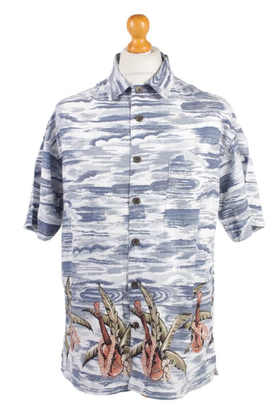 """Vintage Hawaiian Shirt Beach Stag Aloha Summer Navy/Design Chest Size 44""""-SH2173-0"""