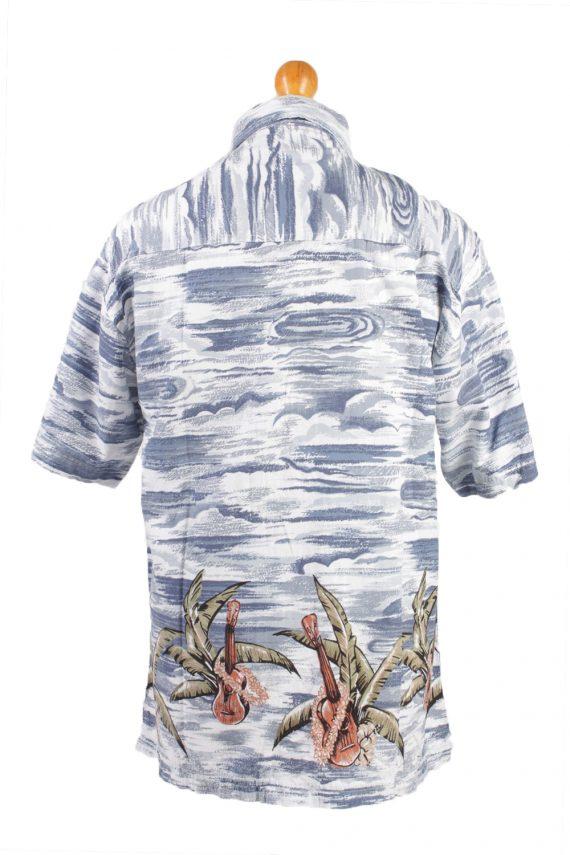 """Vintage Hawaiian Shirt Beach Stag Aloha Summer Navy/Design Chest Size 44""""-SH2173-21165"""
