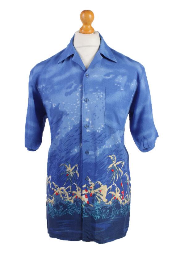 Vintage Hawaiian Shirt Beach Stag Aloha Summer Blue/Design Size M-SH2209-0