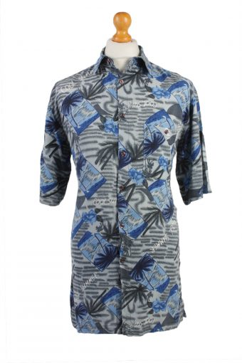 Hawaiian Shirt Beach Stag Tropical Aloha Summer Multi M