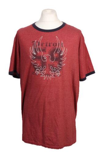 90s T-Shirt Retro Shirt Burgundy L