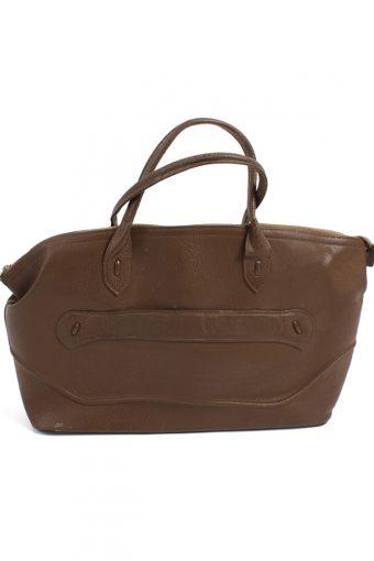 Vintage Brown Travel Bag Large with Zip Unisex