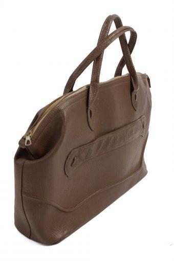 Vintage Brown Travel Bag Large with Zip Unisex - BG091-23268