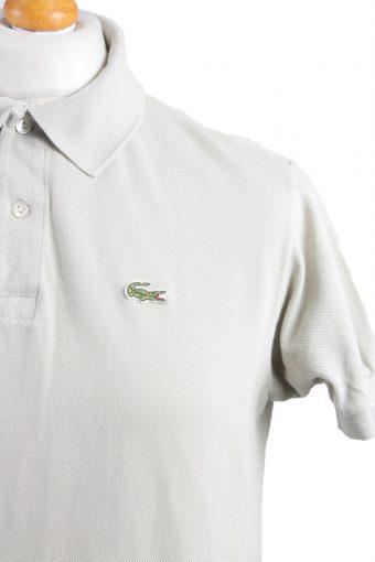 "Lacoste Vintage Casual Men Polo Shirt Grey Chest Size 43"" -PT0183-21890"