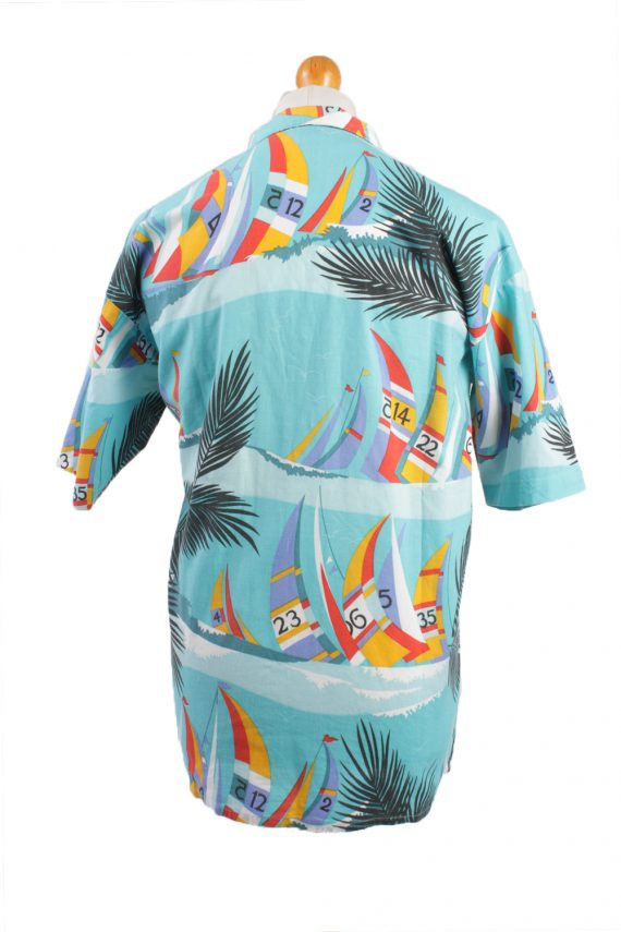 Vintage Hawaiian Shirt Beach Stag Aloha Party Summer Blue/Design Size M-SH2289-21513