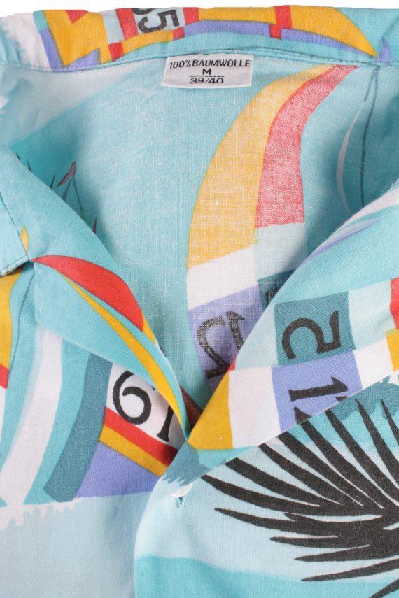 Vintage Hawaiian Shirt Beach Stag Aloha Party Summer Blue/Design Size M-SH2289-21514