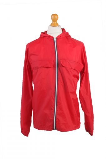Raincoat Windbreaker Festival Coat Jacket 90s Red S