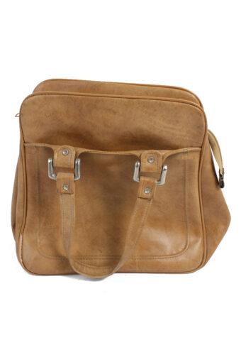 Vintage Brown Large Travel Bag with Zip Unisex