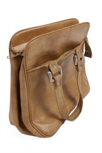Vintage Brown Large Travel Bag with Zip Unisex - BG100-23454