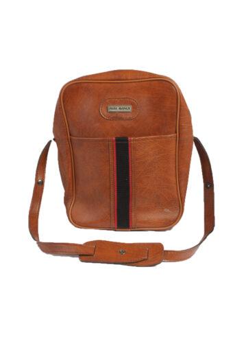 Park Avenue Vintage Brown Medium Shoulder Bag with Zips Unisex