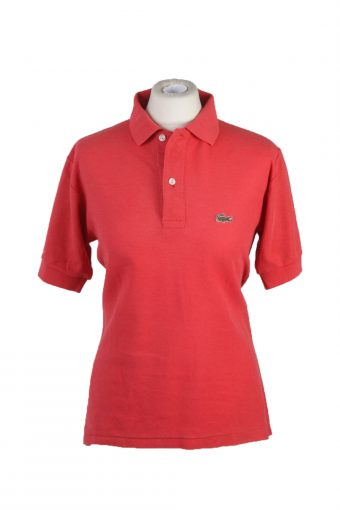 Lacoste Polo Shirt 90s Retro Red S