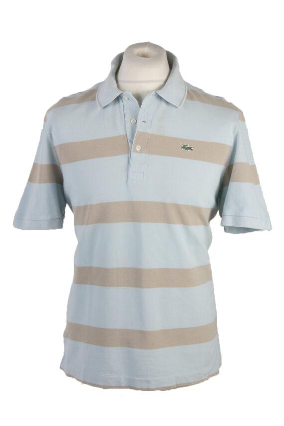 """Lacoste Vintage Casual Men Polo Shirt Blue/Stripes Chest Size 45"""" -PT0229-0"""