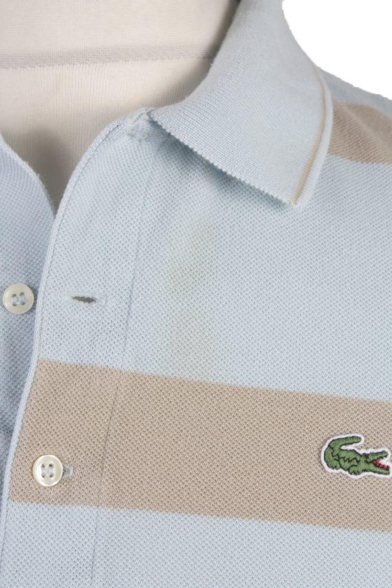"""Lacoste Vintage Casual Men Polo Shirt Blue/Stripes Chest Size 45"""" -PT0229-24054"""
