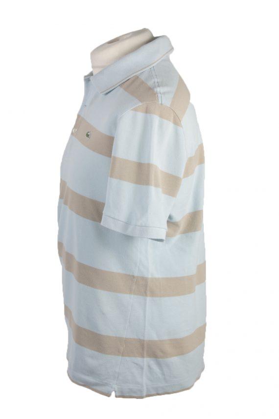 """Lacoste Vintage Casual Men Polo Shirt Blue/Stripes Chest Size 45"""" -PT0229-24055"""