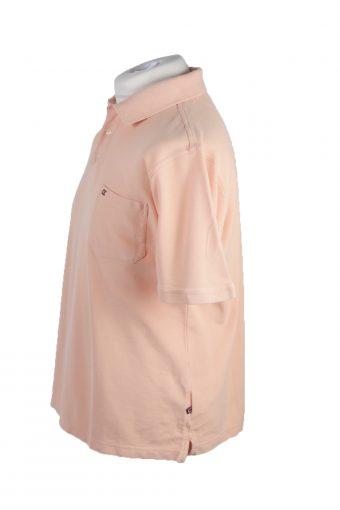 Casa Moda Vintage Casual Men Polo Shirt Coral Size L -PT0244-24100