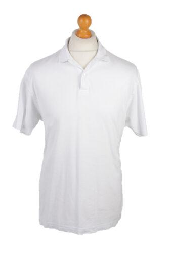 Polo Shirt 90s Retro White L