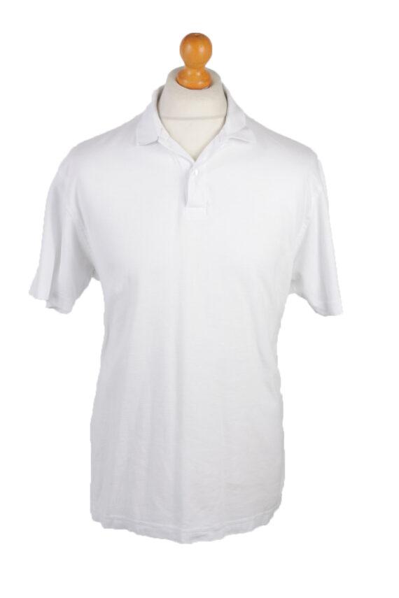 B&C Vintage Casual Men Polo Shirt White Size L -PT0261-0
