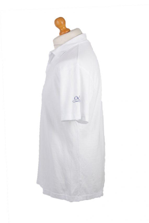 B&C Vintage Casual Men Polo Shirt White Size L -PT0261-24153