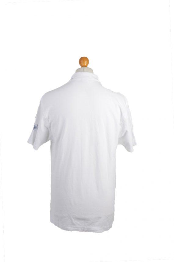 B&C Vintage Casual Men Polo Shirt White Size L -PT0261-24154